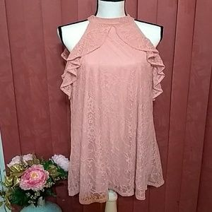 LACE❤️Dusty pink cold-shoulder 👗 from Express